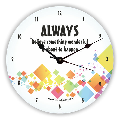 Something Wonderful Inspirational Motivational Novelty Gift Clock