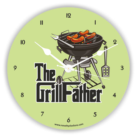 The Grillfather Humour Novelty Gift Clock