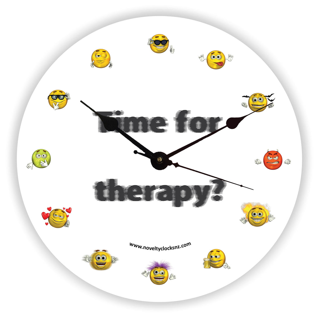 Time for Therapy Humour Novelty Gift Clock