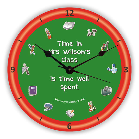Time Spent in Class Occupations Novelty Gift Clock