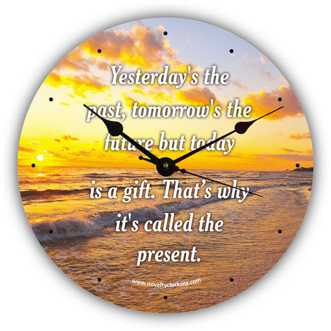 Today is a Gift Inspirational Motivational Novelty Gift Clock