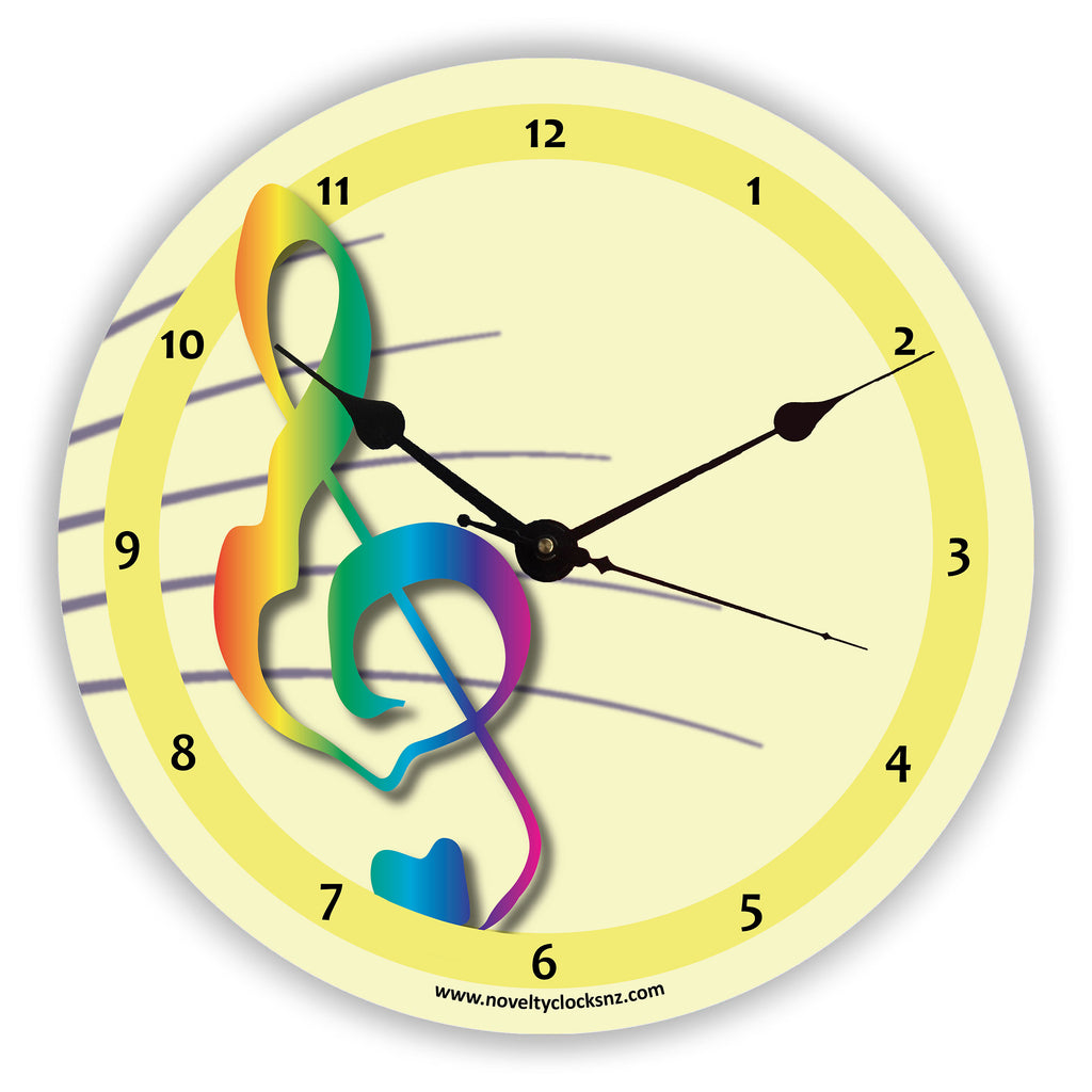 Treble Clef General Novelty Gift Clock