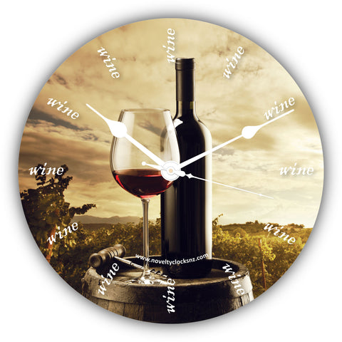 Wine o'clock Bar Theme Novelty Gift Clock