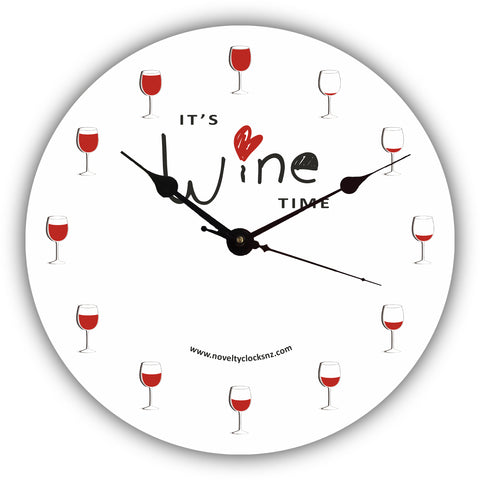 Wine Time Bar Theme Novelty Gift Clock