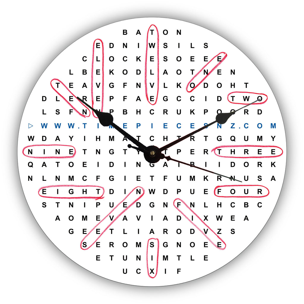 Word Search General Novelty Gift Clock