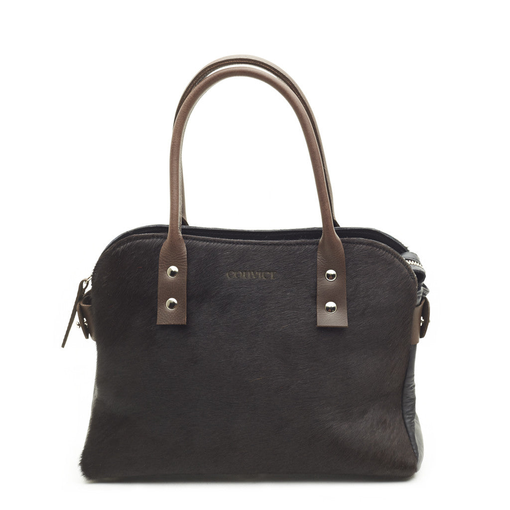 Mini Mina Tote Black Cowhide LAST ONE
