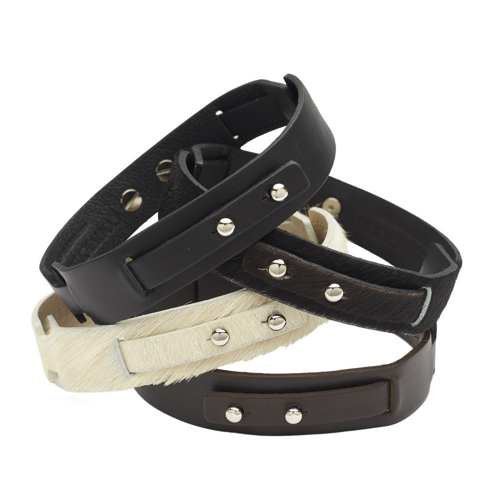 Little Bess Choker Brown leather