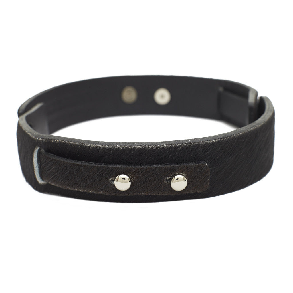 Little Bess Choker Black cowhide