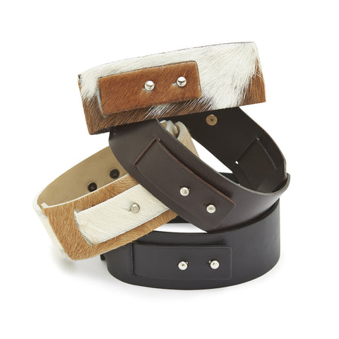 Big Bess Choker Brown leather