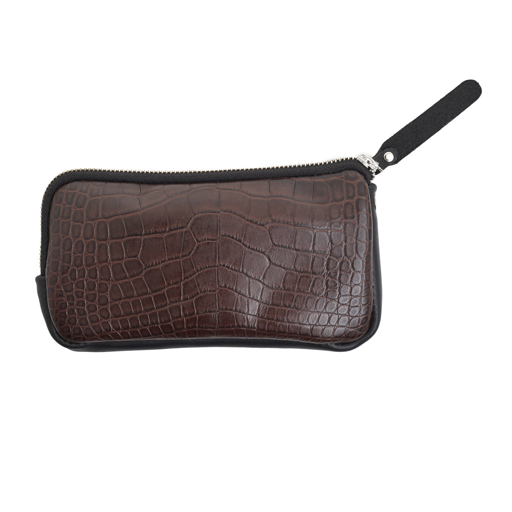 Esther Wallet Brown Croc emboss leather