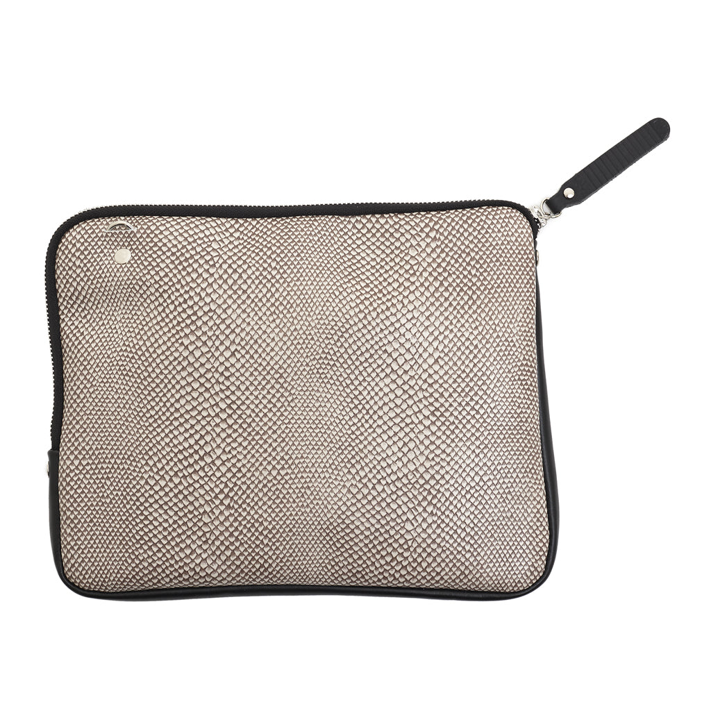 Grace Soft Cross Body Sand snake emboss leather