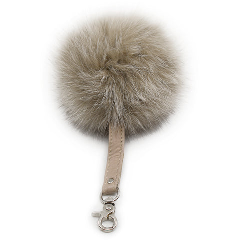 Fur Key Charm - Black