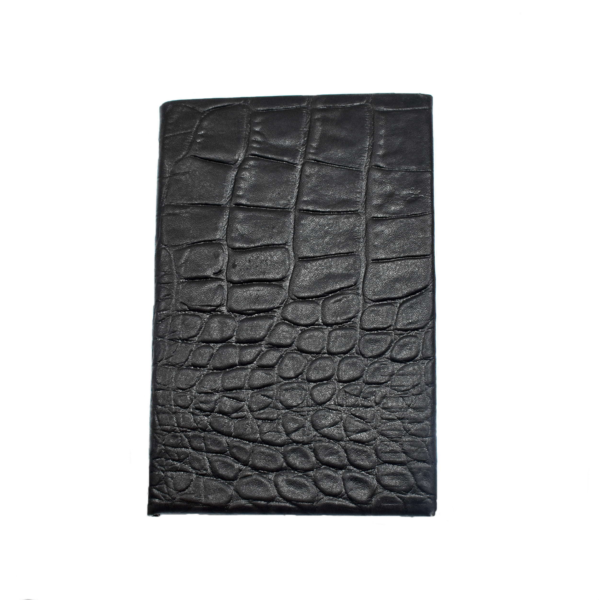 Convict passport wallet croc effect leather
