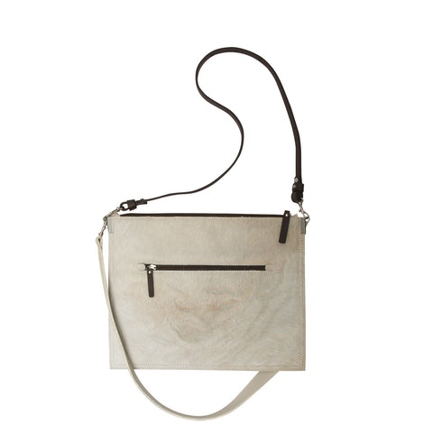 Annette Pouch Beige Cowhide NEW