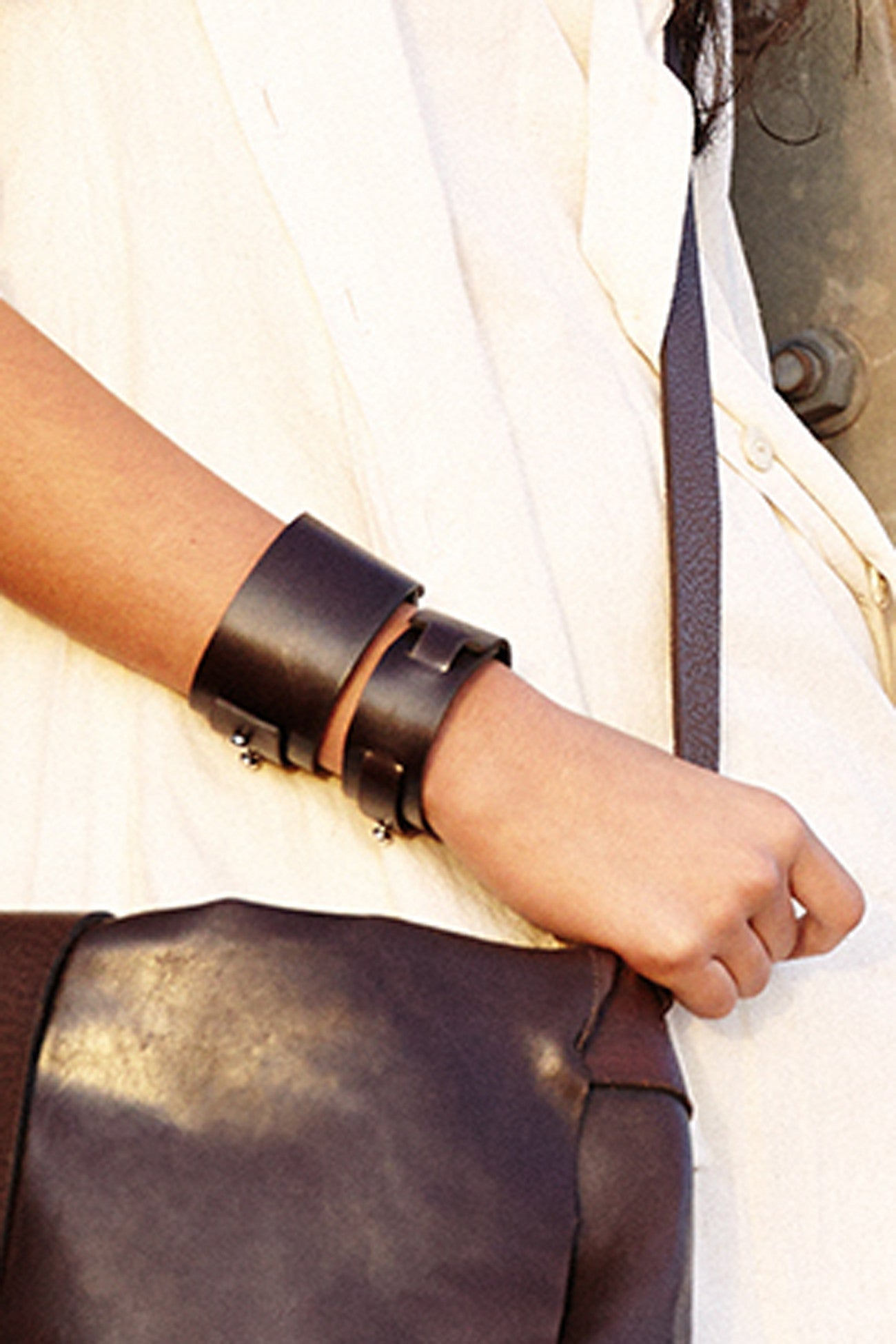 Big Bess Cuff Brown Leather