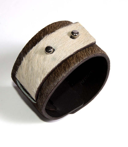 Little Bess Cuff Beige Cowhide