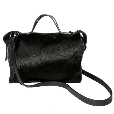 Bridget Bowler bag Black Cowhide, Australian Made