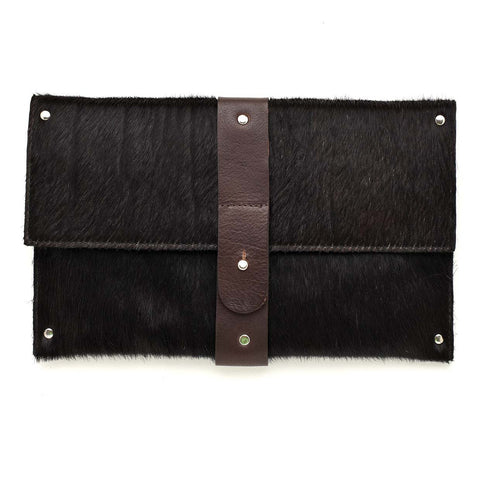 Mary Clutch Black Cowhide OUT OF STOCK