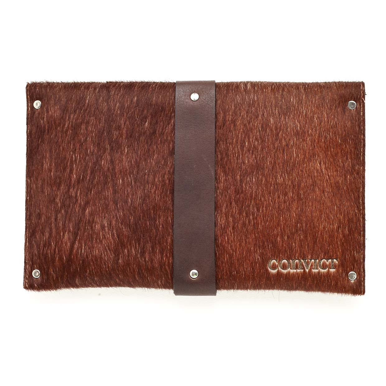 Mary Clutch Brown Cowhide