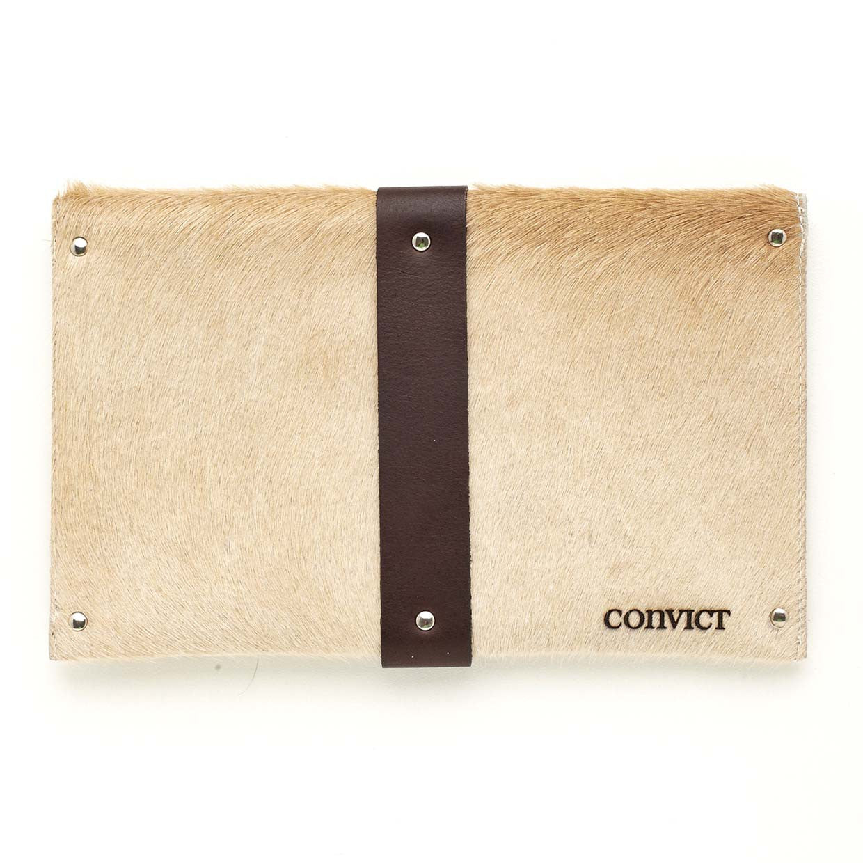 Mary Clutch Beige Cowhide