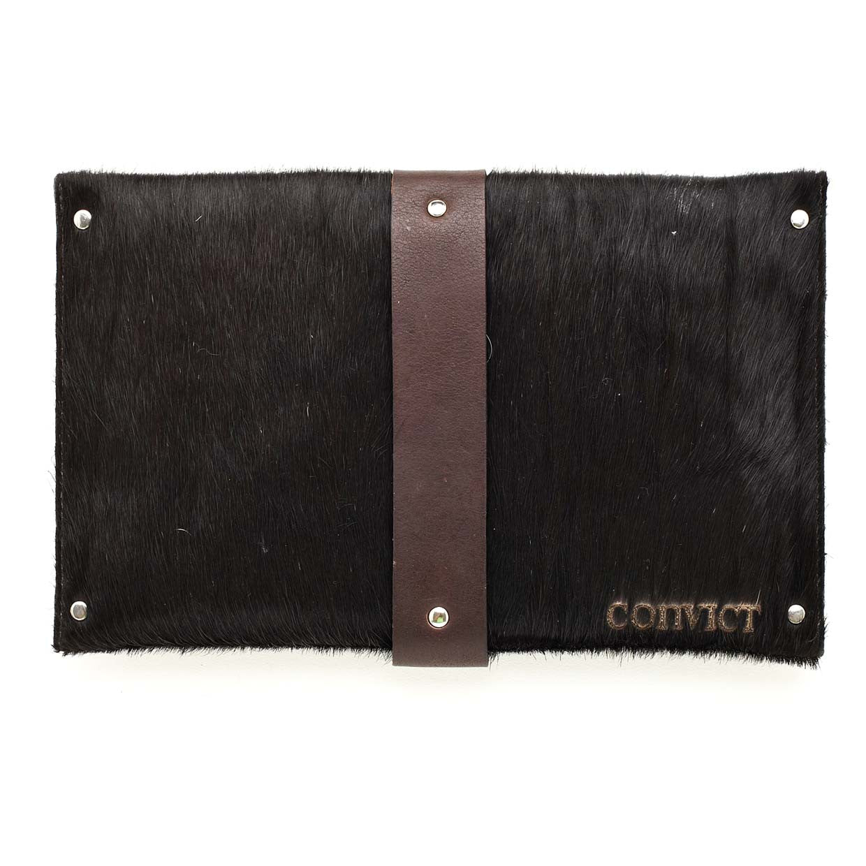 Mary Clutch Black Cowhide
