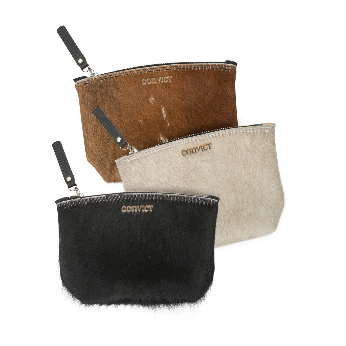 Convict Susannah cosmetic pouch collection cowhide