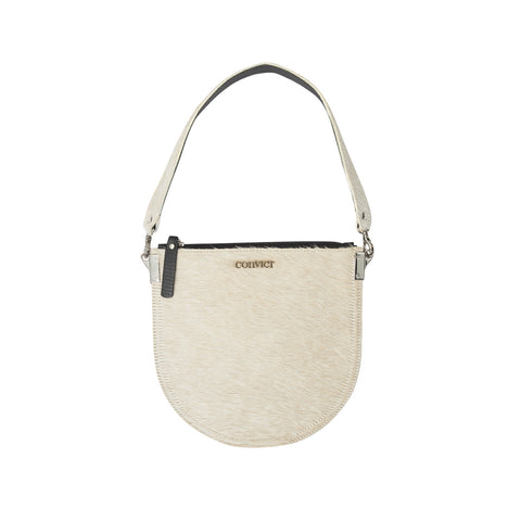 Ellen Evening Pouch Beige Cowhide