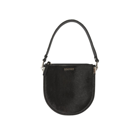 Ellen Evening Pouch Black Cowhide