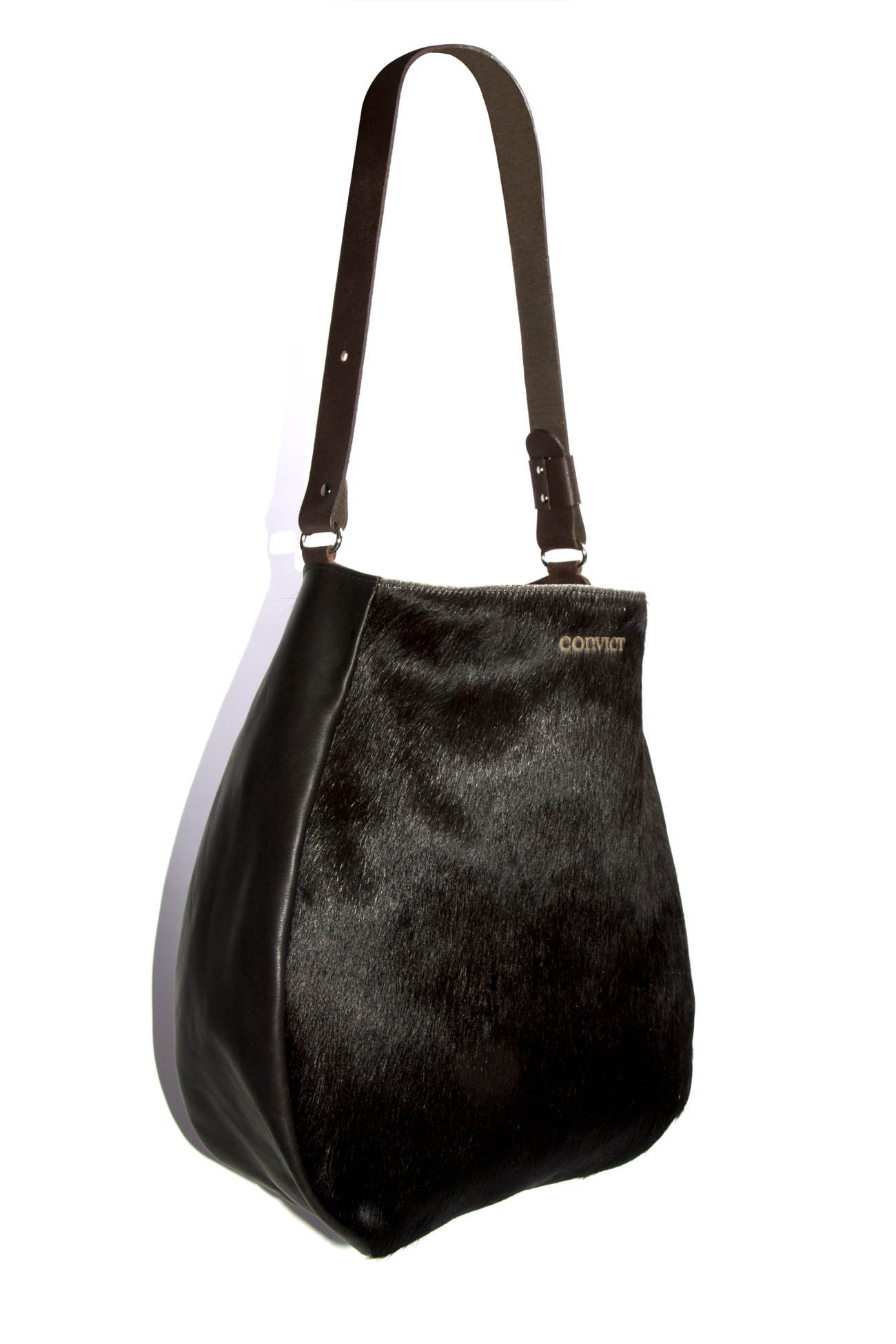 Jane Tote Black Cowhide