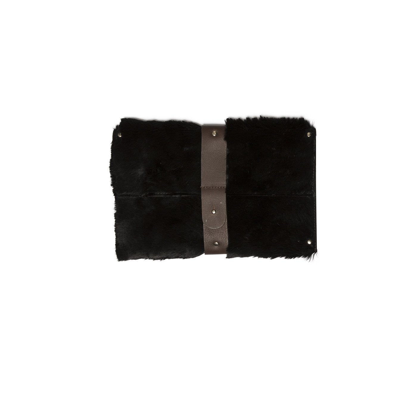 Mary Clutch Black Kangaroo Hide