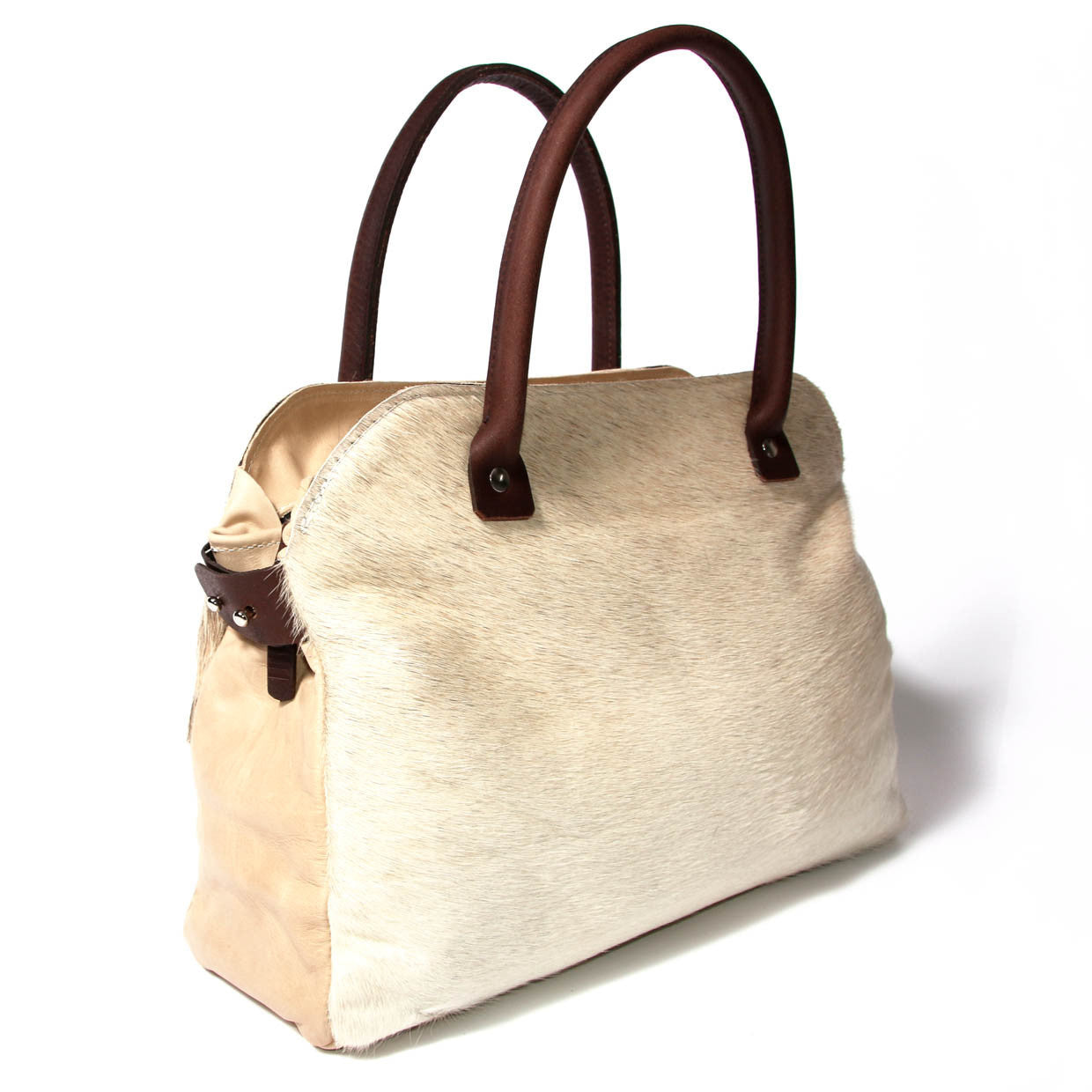 Mina Tote Beige Cowhide  OUT OF STOCK - PRE ORDER AVAILABLE