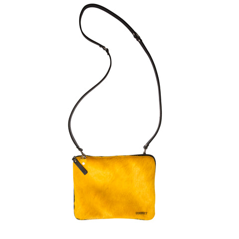 Grace Soft Cross Body Mustard Cowhide