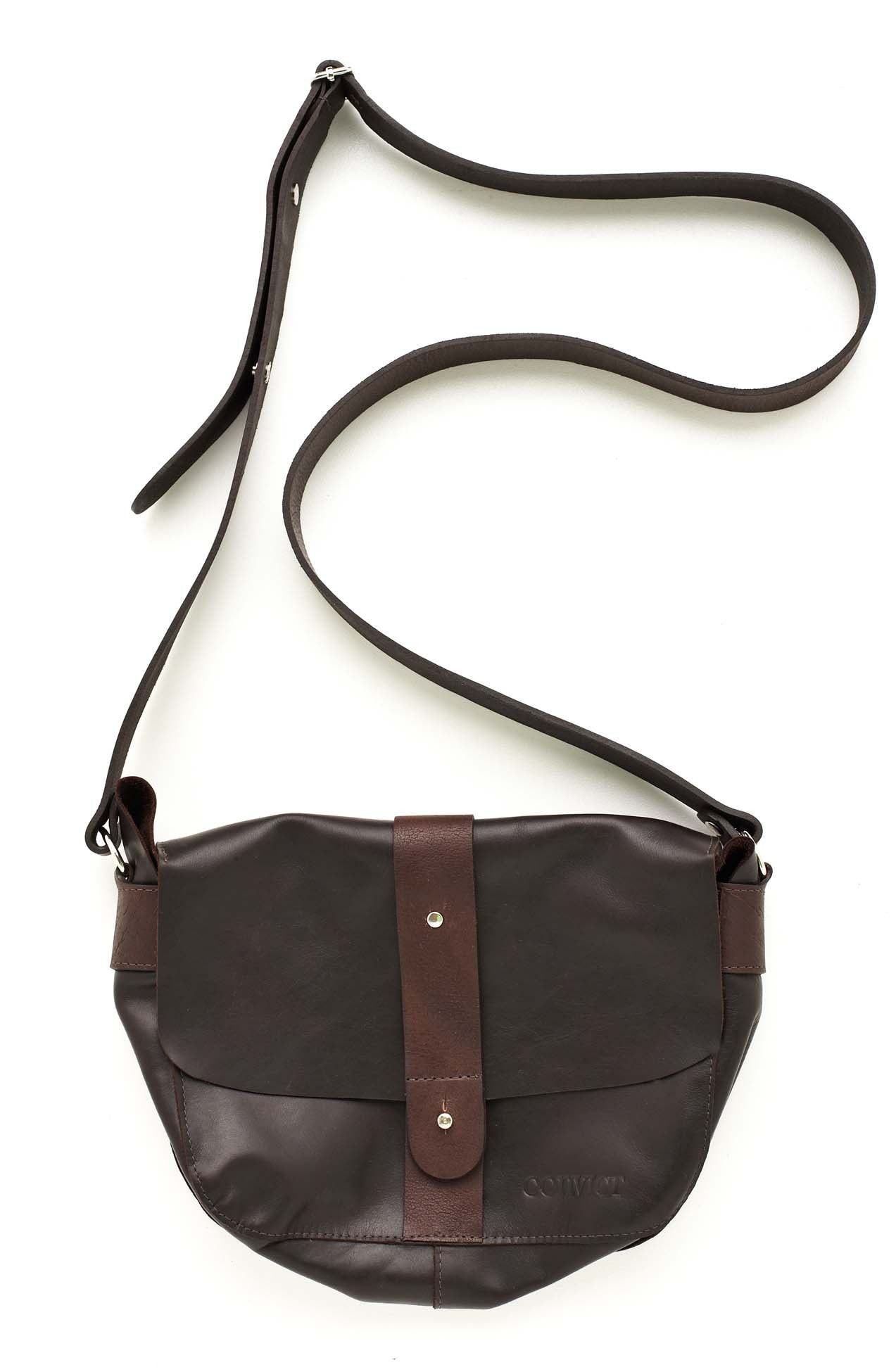 Convict Betsey satchel, Dark brown leather, australian made
