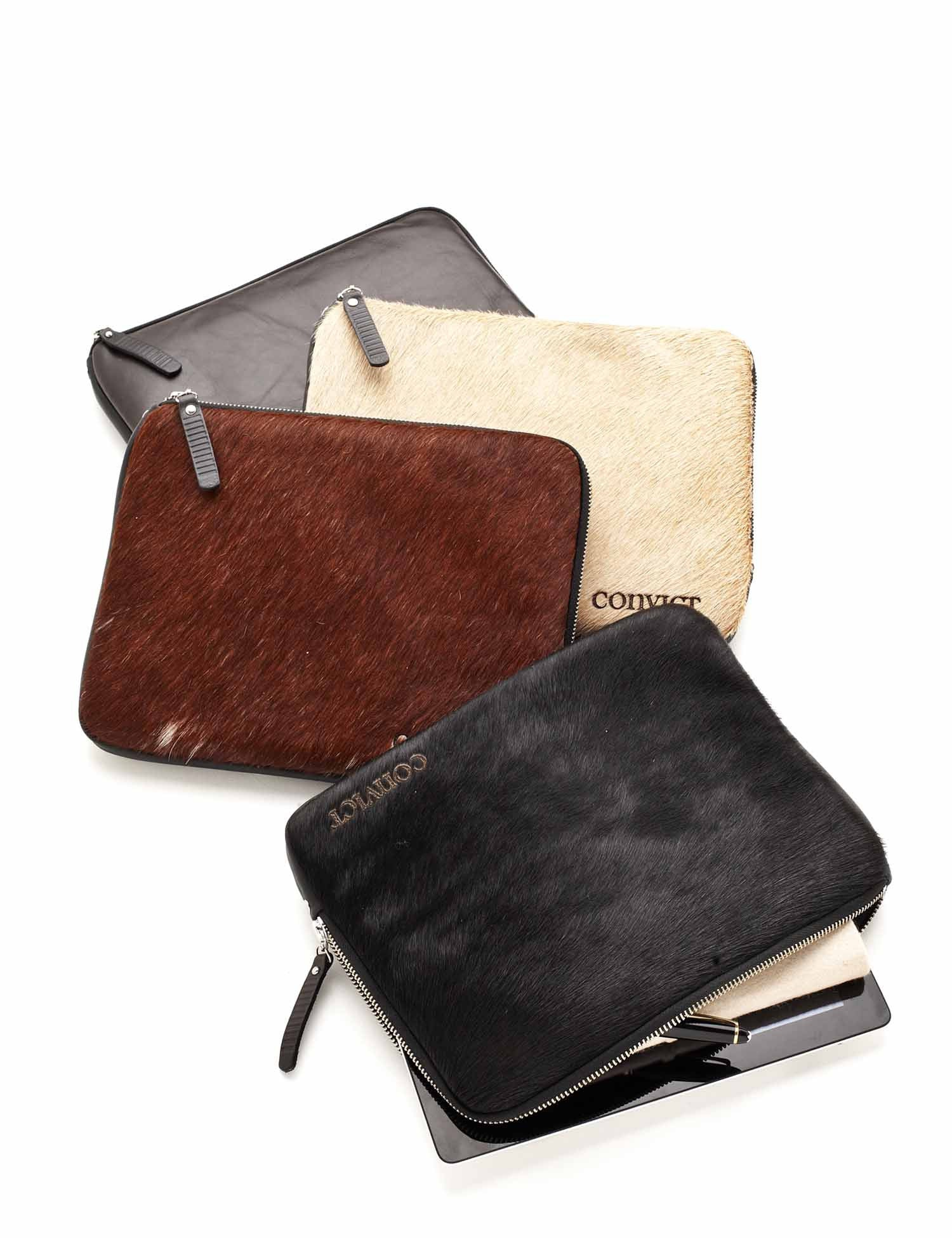 Thom Tablet Cover Beige Cowhide