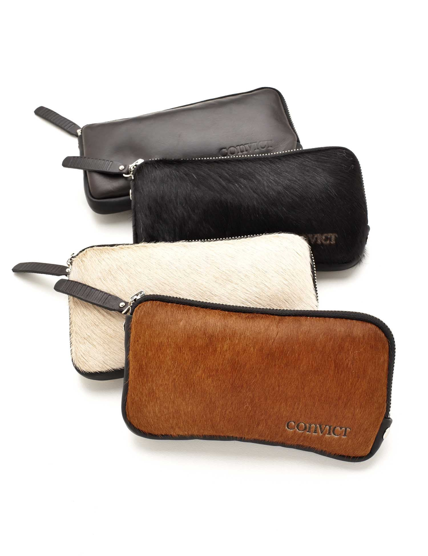 Convict brown cowhide womens wallet
