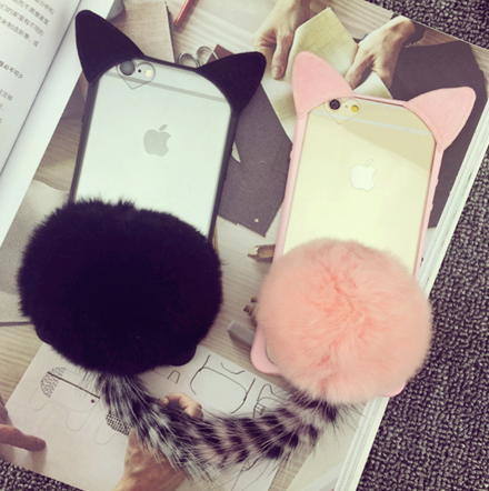 Gel Cat Ears iPhone Case