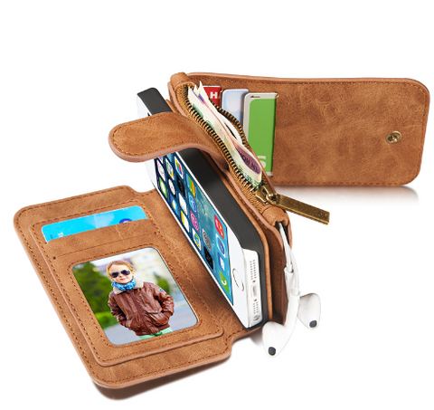 Multi-function Leather iPhone Case