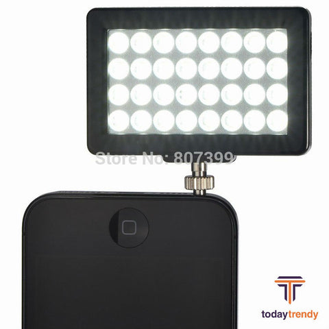 Mini Portable 32 LED Light Mobile Phone Spotlight for iPhone 6 Plus 5 5S Samsung Galaxy S5 S4