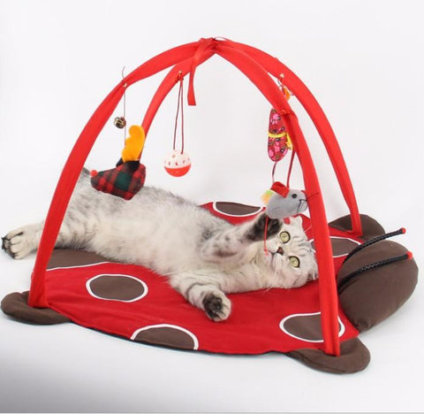 **Cat Bed Pad Blanket With Cat Toys