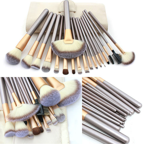 Professional Luxury Makeup Brushes Set Champagne