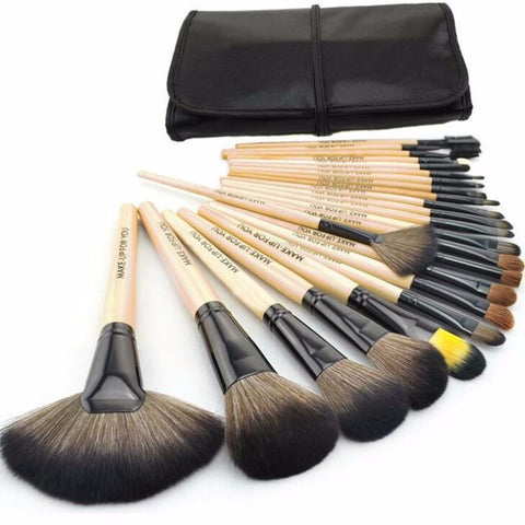 24 Piece Gorgeous Make Up Brush Set With Free Case