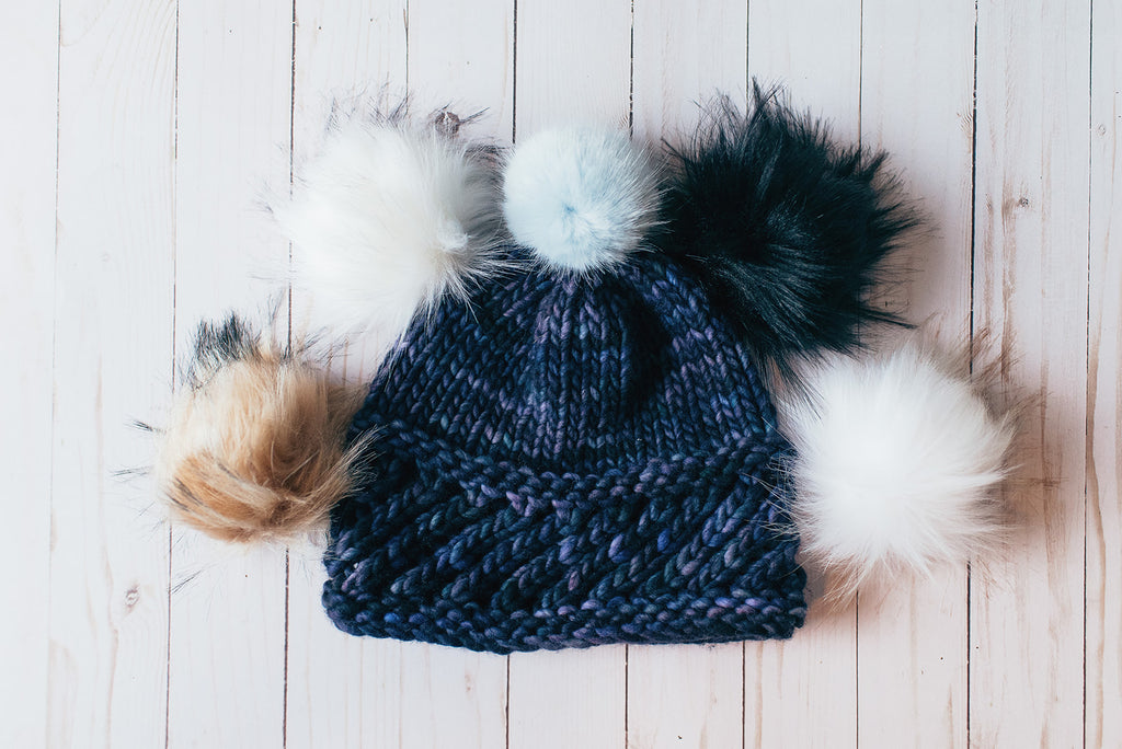 Cozy Hats and Faux Fur Pom Poms