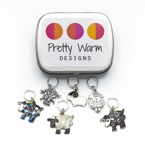 Pretty Warm Designs Stitch Markers