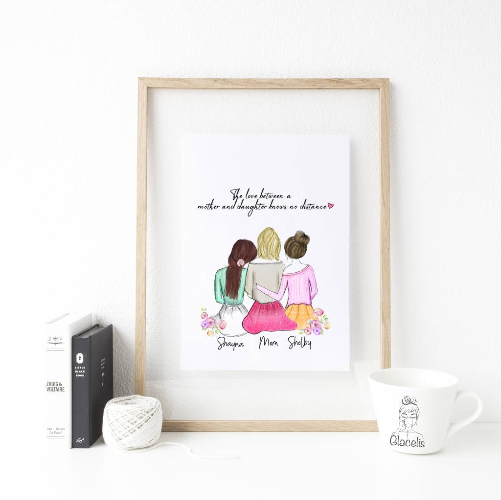 Your home will be where your heart is, and that is with your mother. Personalize an art for her.