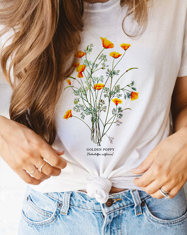 Unique botanical tee for women at glacelis