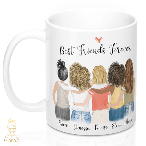 Five Women Custom Best Friends Mug