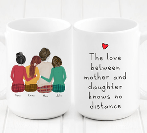 Personalized Three Daughters and Mom Mug