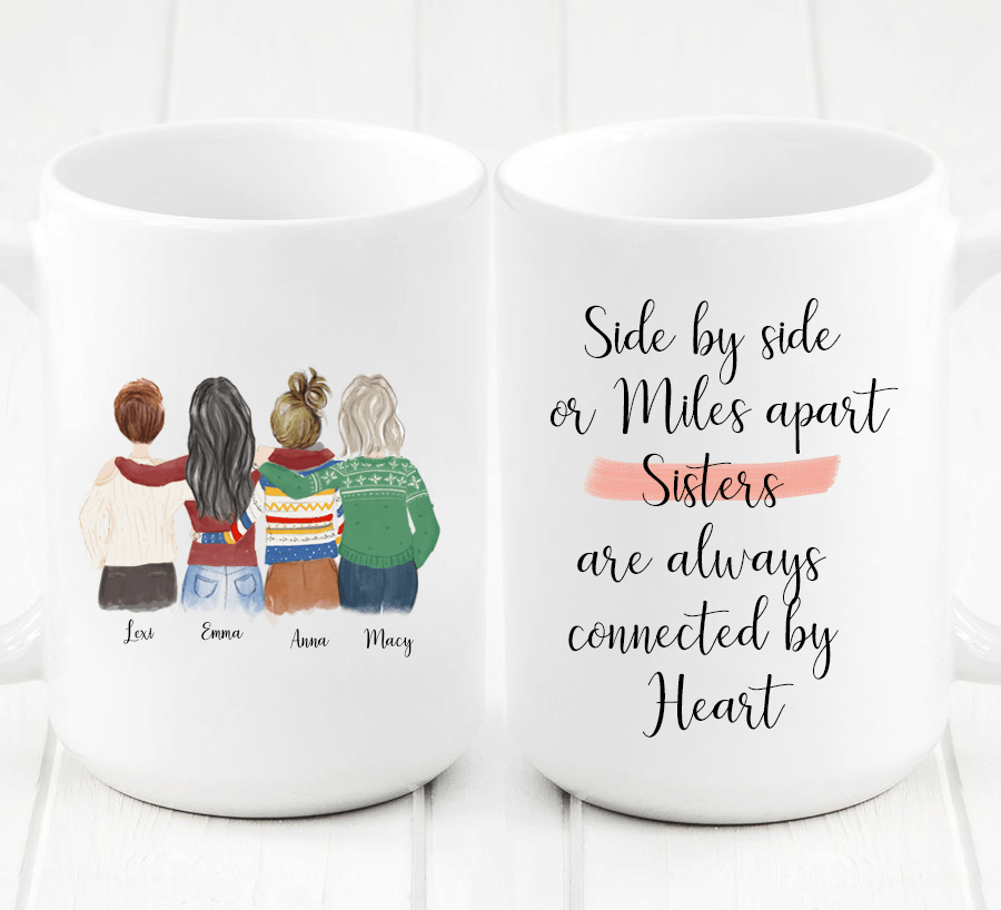 Four Women Custom Best Friendship Mug