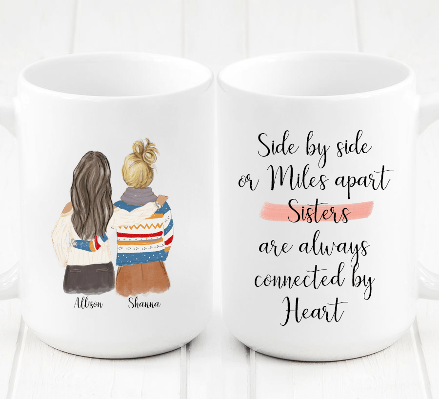 Two Women Custom Best Friends Mug