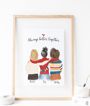 personalized best friends for christmas artwork